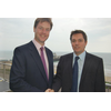 Nick Clegg MP with Andrew Simpson