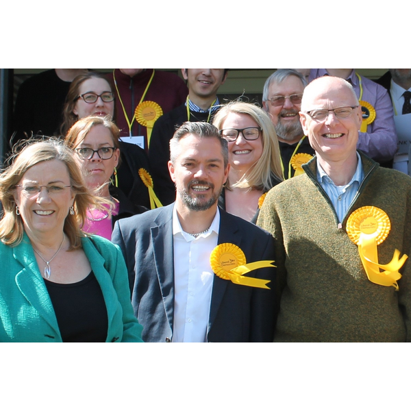 Andrew with the Lib Dem Team