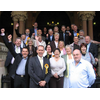 Victorious Liberal Democrat Councillors on the steps of The Guildhall after winning control of the council